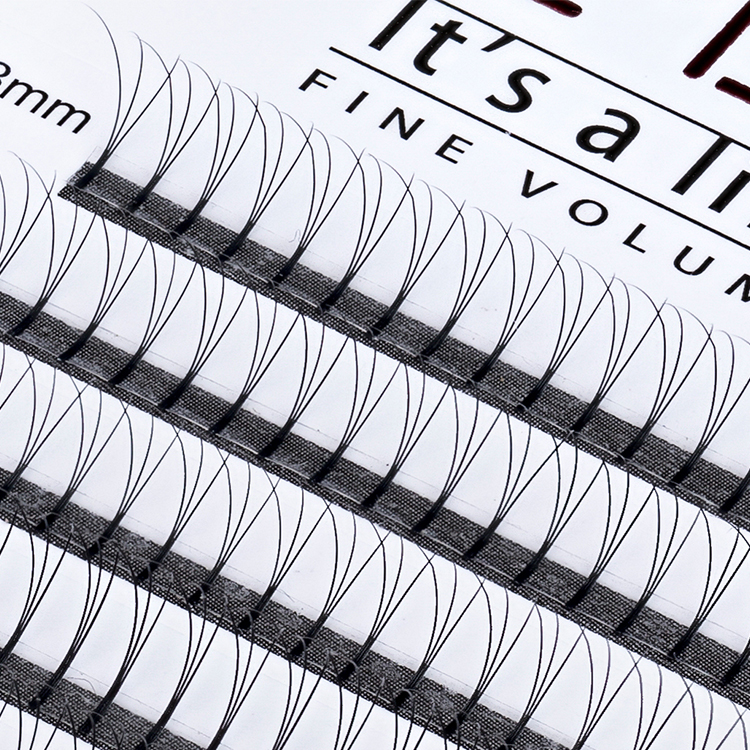 Inquiry for 3D 4D 5D 6D premade fans 0.05/0.07/0.10 thickness long stem / short stem private label eyelash extension vendor JN06