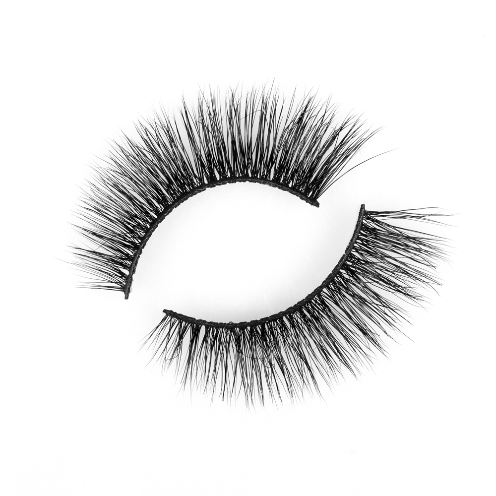 Wholesale Price Private Label 3D Mink Strip Eyelashes with custom packaging siberian mink lashes vendors P103 JN10