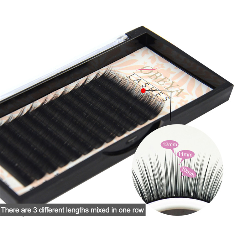 Best Eyelash Manufacturer Supply camellia Lash Extension 10 11 12mm Y21
