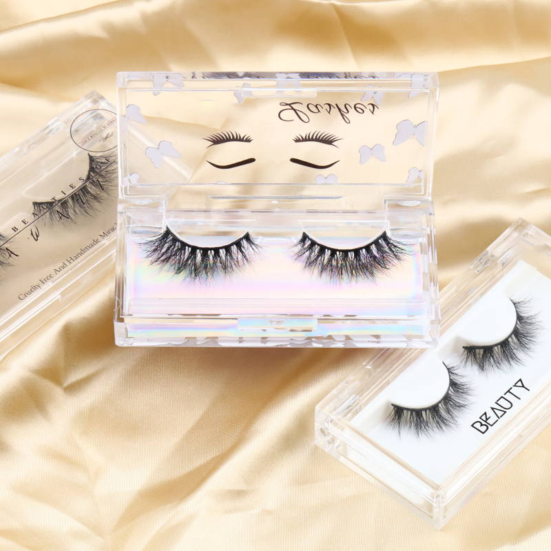 New Styles Cruelty Free  Wholesale Price Mink Eyelashes and Packaging Factory 100% Real Mink Eyelashes Vendor Soft Cotton Band JN