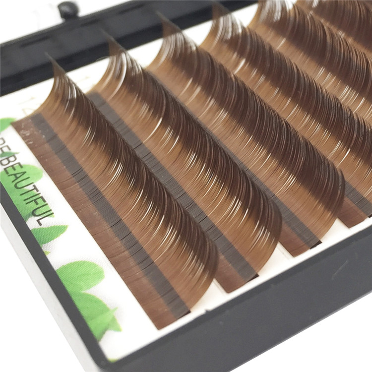 New Arrival Colored Eyelash Extensions J B C D curls Volume 0.05mm,0.07mm Wholesale price list FM019