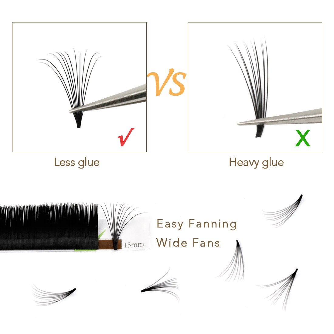 Inquiry for fast delivery easy fan blooming eyelash extension 8-20mm factory price private label service from eyelash extension factory JN
