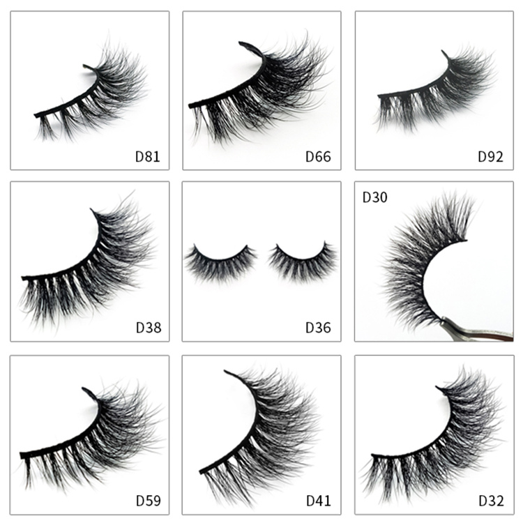 Private Label Mink Eyelashes With Custom Eyelashes Package Box Y53