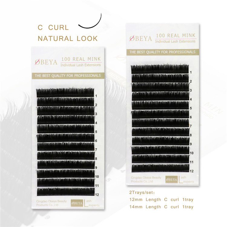 Siberian Mink Lashes Eyelash Extensions Wholesale C 12&14mm Y54