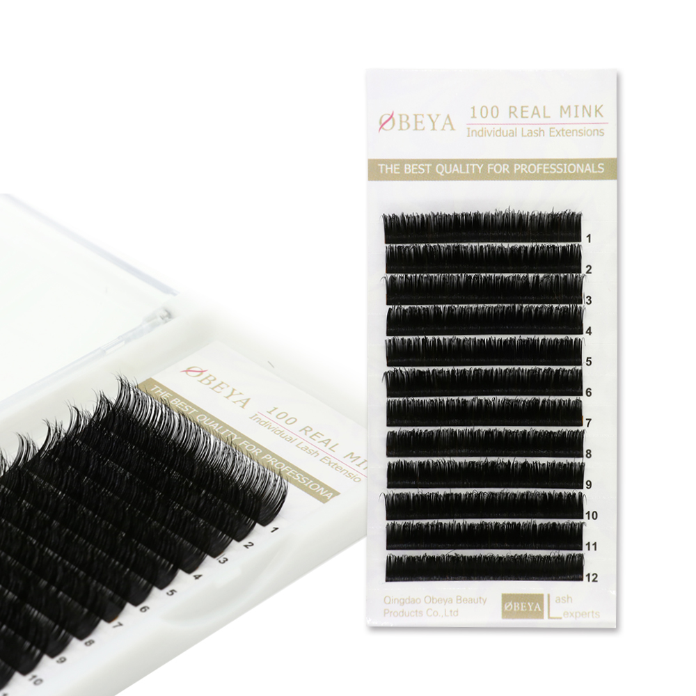 ODM OEM accepted C D Curl 100% real mink volume eyelash extensions  YY